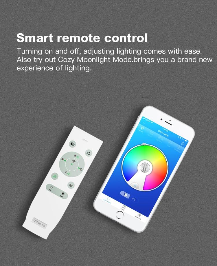 HTB17stNXpP7gK0jSZFjq6A5aXXa5 Modern LED ceiling Lights home lighting 25W 36W 52W APP Bluetooth Music light bedroom lamps Smart ceiling lamp