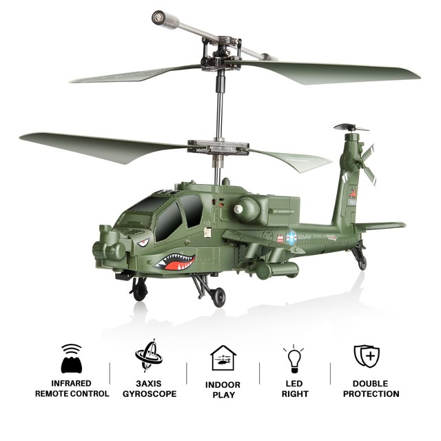 RC Helicopter AH-64 Apache 3CH RC Drone Simulation Helicopter