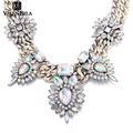 VALEN BELA Maxi Gold Fashion Women Statement Necklace Collier Jewerlry Christmas Gifts Bib Crystal Choker Collar Necklace XL1525
