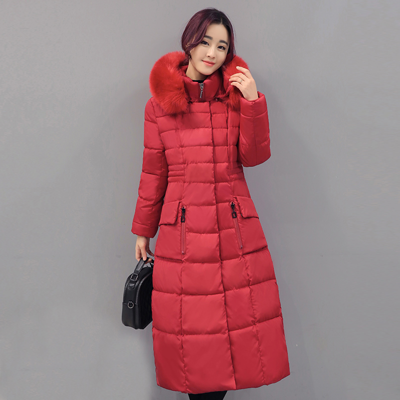2017 New style top winter jacket women casual long womens clothing thick coats outwear Cotton padded coat with hooded plus size black 2017 new parkas female winter coat jacket thick cotton down hooded coats turtleneck padded jackets womens outwear women