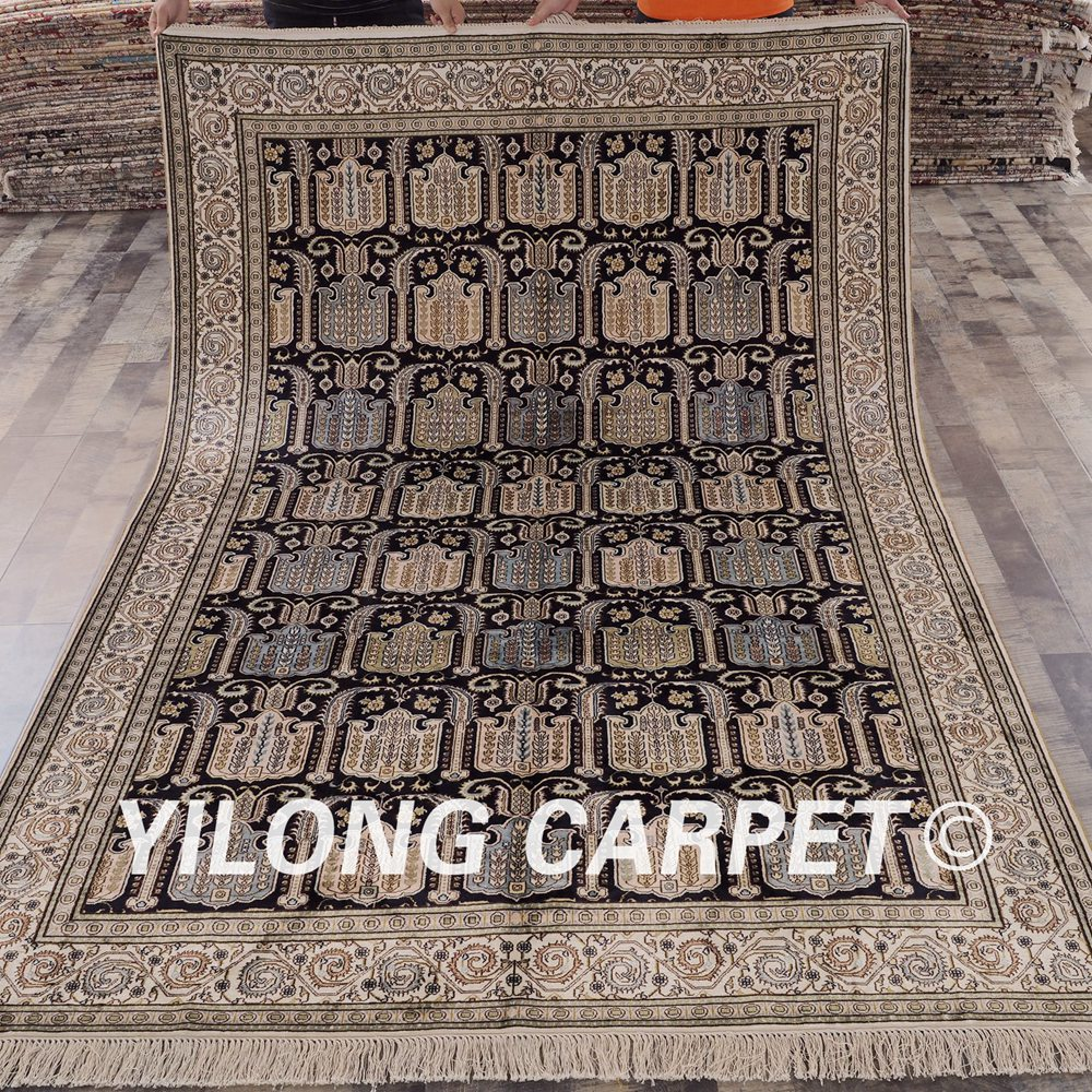 Shop Classical Kashan Medallion Hand Knotted Persian Wool: YILONG 6'x9' Classical Persian Style Handknotted Antique