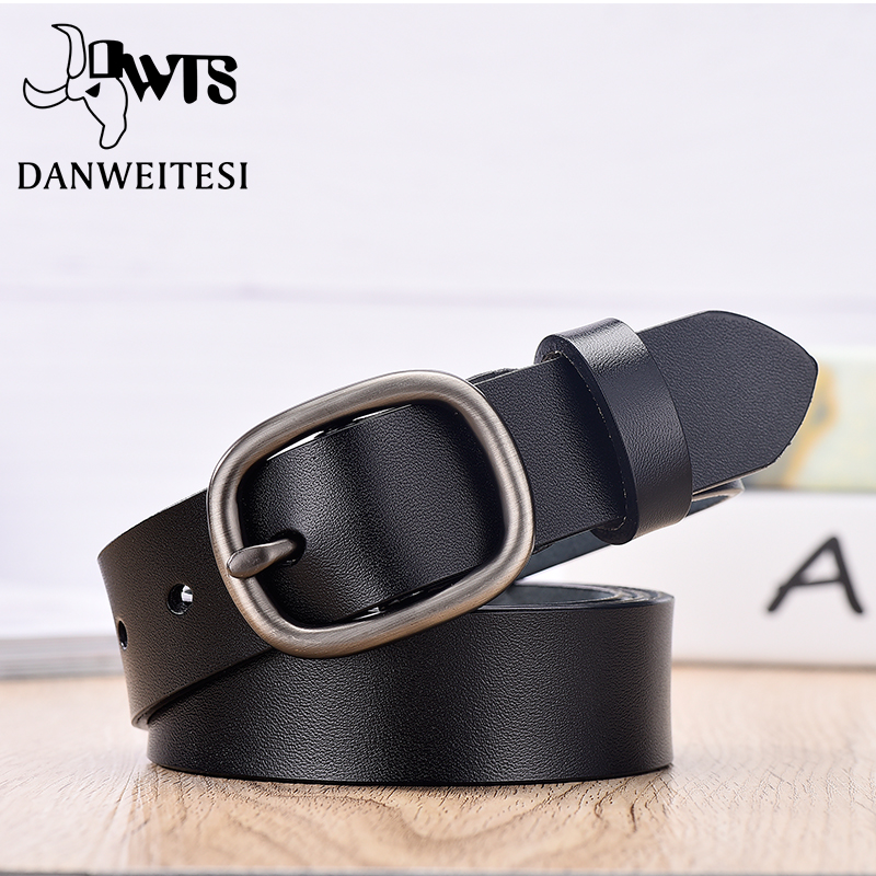 【DWTS】Women's Belt Fashion Women Female Belt Genuine  Leather Belts For Women Female Belt Pin Buckles Fancy Vintage For Jeans