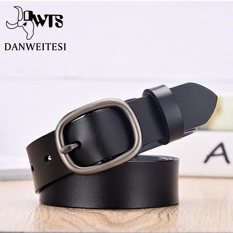 【DWTS】Women's Belt Fashion Women Female Belt Genuine Leather Belts For Women Female Belt Pin Buckles Fancy Vintage for Jeans