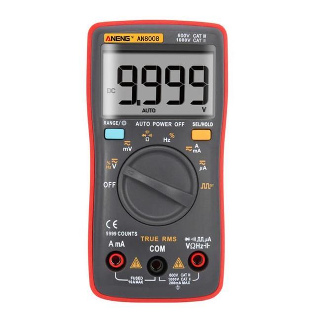 ANENG AN8008 Prawda-RMS Multimetr Cyfrowy 9999 Liczy Plac Wave Podświetlenie AC/DC Napięcie Prądu Amperomierz