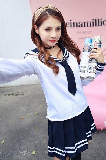 Japan School Uniform Cosplay Costume Anime Maid Skirt Sailor Uniform Lolita Dress Japan Girl British Navy Style Cosplay Costume