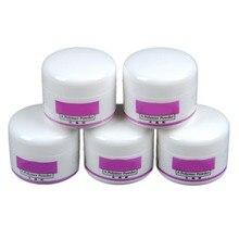 COSCELIA Acrylic Powder 5PCS Nail Acrylic Powder Acrylic Nail Powder Crystal Clear Nail Gel Dust Manicure Nail Art Tips Builder