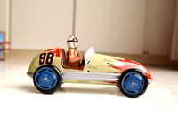Clockwork classic retro tin toys Rare metal clockwork racing car Collection