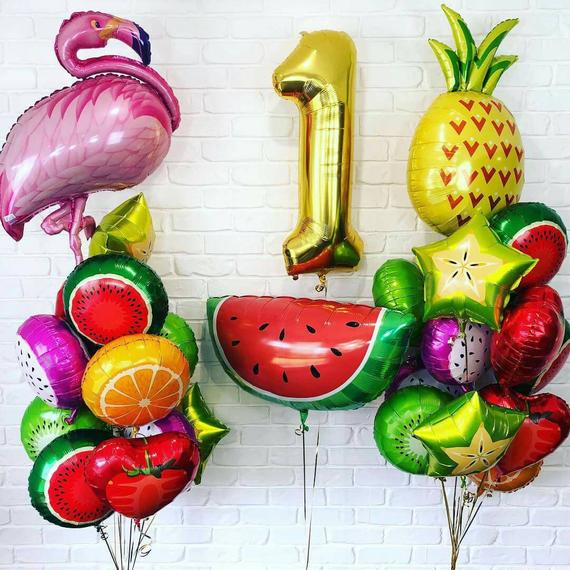 Flamingo cup Balloon Fruit Foil Balloons Birthday Wedding Party Decor Kid Toy RS