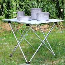 Aluminum Alloy Folding Camp Table Roll-Top Lightweight Portable Stable Versatile  camping table folding
