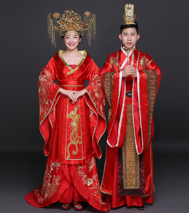 Buy Chinese Traditional Dress Classical Wedding Red Wedding Dress Cheongsam Han