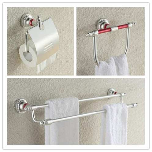 Luxury Bathroom Accessories Set Double Towel Rack Towel Ring Holder And  Bathroom Paper Holder Bathroom Products