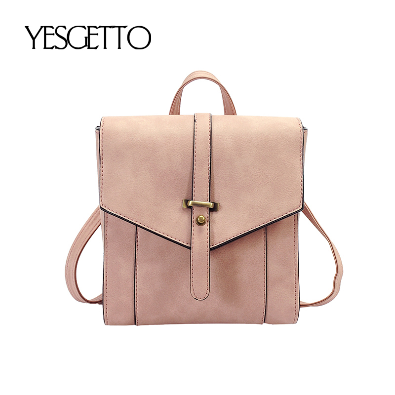 Brand Women Backpack Female Luxury Designer Lady's Small Vintage Backpacks For Teenage Girls High Quality Leather Travel Bags high quality iron wire frame sun glasses women retro vintage 51mm round sn2180 men women brand designer lunettes oculos de sol