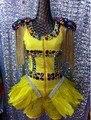 Boate ds trajes cantora dancer mostrar Qualidade Artesanal de Diamantes de Cristal Cadeia de Borla das Mulheres das Mulheres desgaste performance de palco