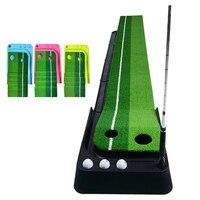 250 X 30CM Putting Green Golf Mat with Putting Mat, Return, and Golf Balls – Outdoor & Indoor Putting Green Putting Aid