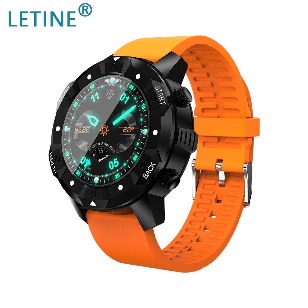 Montre intelligente Letine WiFi S3 étanche IP67 1 GB + 16 GB boussole Android 5.1 fréquence cardiaque Smartwatch GPS montre-bracelet pour Android IOS