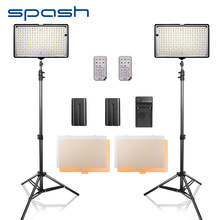 hot deal buy spash led video light 2 in 1 kit photography lighting with tripod remote control cri 93 3200k-5600k camera photo studio lamp