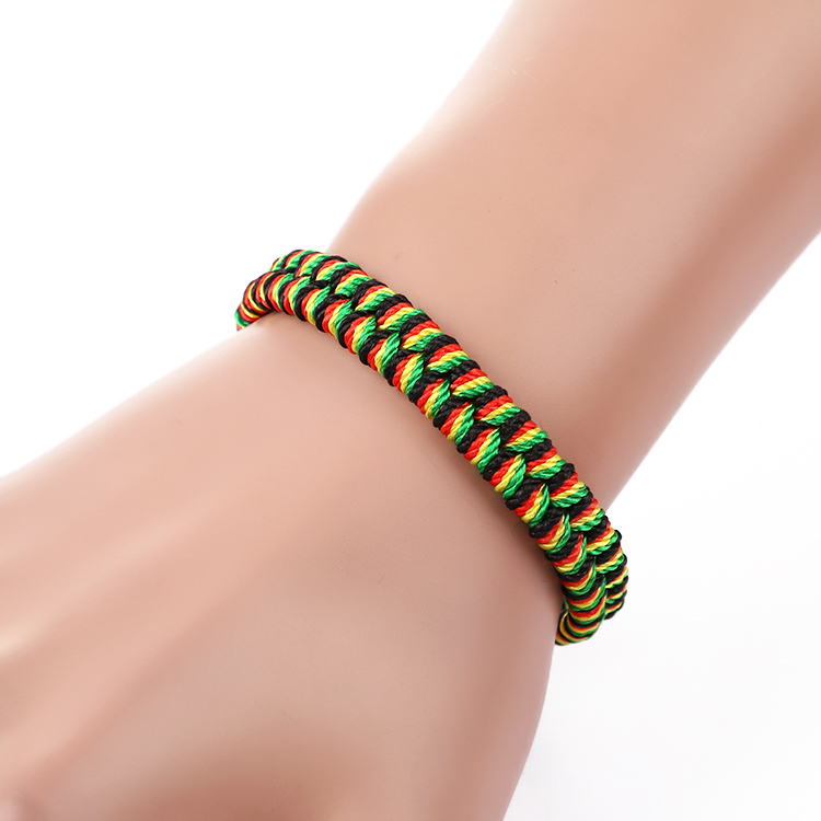 Fashion brazilian bracelet multicolor braided boho chain bohemian tassel handmade sport chain friendship bracelets neon unisex 5