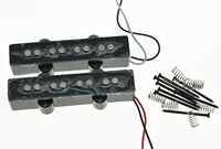 4 String Jazz Bass Alnico 5 Pickups 60's Vintage Sound J Bass Pickup Set Black