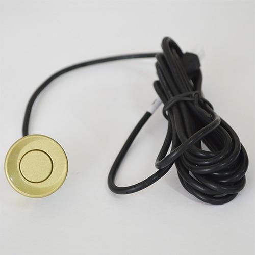 4 датчика s 22 мм английский человеческий голос ЖК-датчик парковки Комплект дисплей Автомобильный радар заднего хода монитор система 12 в 8 цветов - Название цвета: Золотой