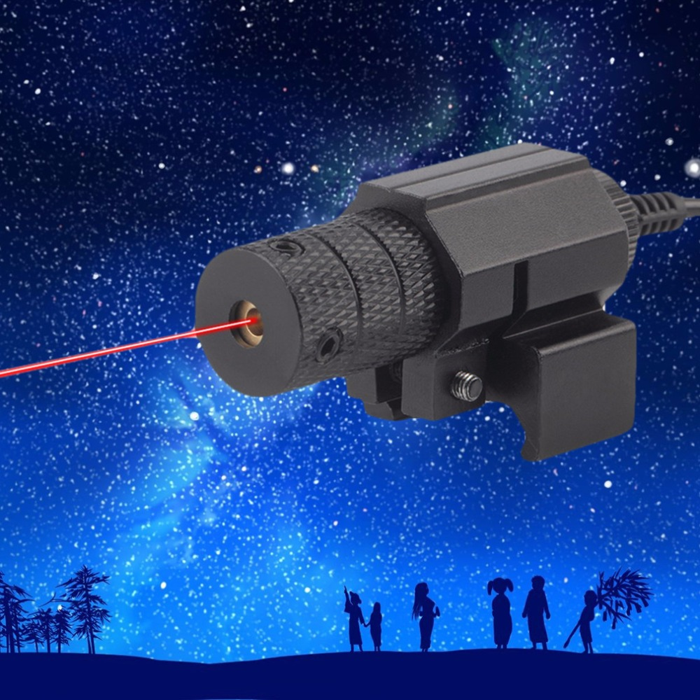 5mw Tactical Metal Housing Red Dot Laser Sight With Compact Mount Tail Switch Remote Switch Scope For Hunting