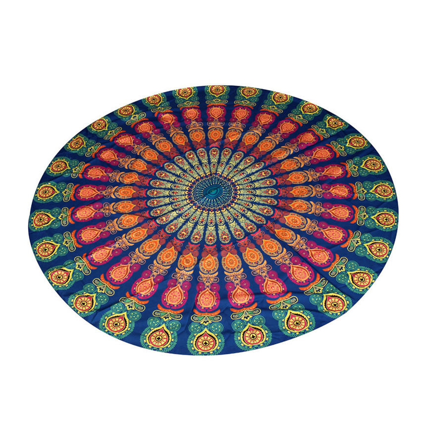 hot selling Round Beach Pool Home Shower Towel Blanket Table Cloth Yoga Mat Jul8 Extraordinary