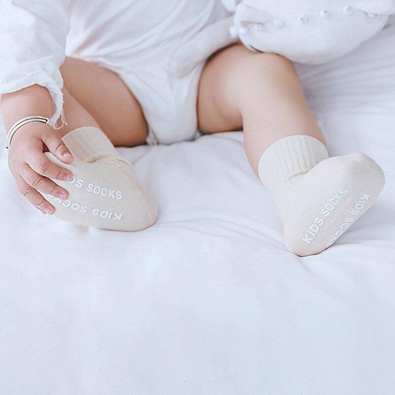 3 Pairs/lot Children's Socks Solid Striped Summer Spring Boy Anti Slip Newborn Baby Socks Cotton Infant Socks For Girls 5