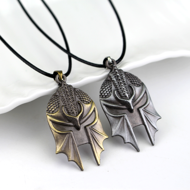 Hot Online Game Dragon Age 3 Inquisition Mask Pendant Men High Quality Alloy fashion necklaces
