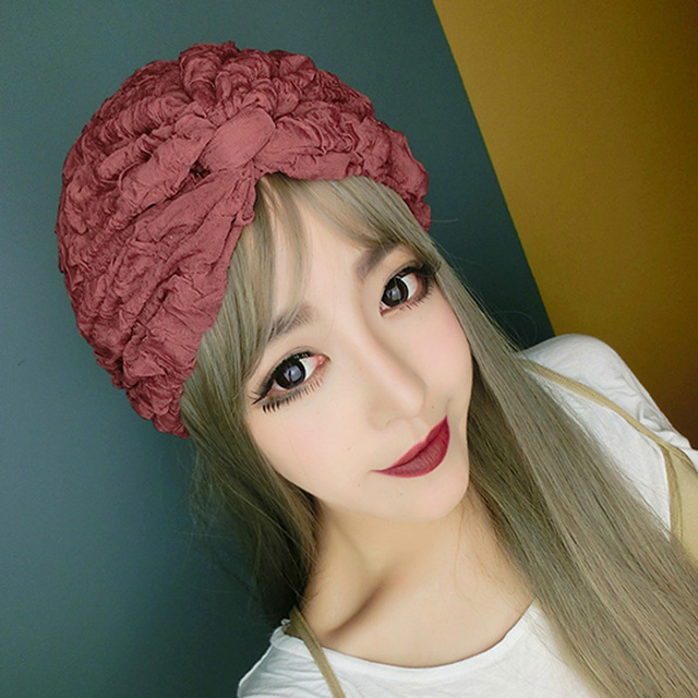 Custom Hand Made Women Lace Bowknot Cap Girl Night Club Bow Lace Hat Vintage All Match Skullies Beanies 7Colors
