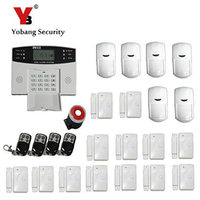 YoBang Security Spanish Ltalian Russian Voice TIP Wireless GSM Home Safety System Cable Alarm Security Alarm With PIR Sensor.