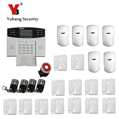 YoBang sécurité espagnol Ltalian russe pointe vocale sans fil GSM système de sécurité à domicile câble alarme de sécurité avec capteur PIR.
