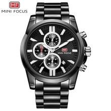 MINIFOCUS Quartz Mens Watches Luxury Brand Stainless Steel Wrist Watch Militar Black Sport Men Waterproof Luminous