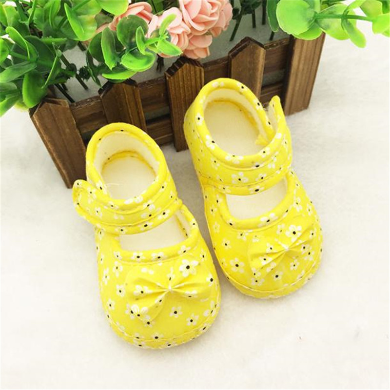 Kids Baby Bowknot Printing Newborn Cloth Shoes Baby Shoes A20