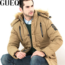 GUEQI FUR Hooded Man Winter Parkas Plus Size L-5XL Cotton Padded Outerwear 2018 New Men Warm Windproof Jackets