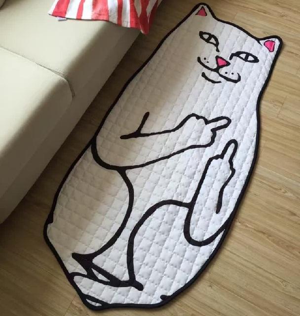 Encantador Dos Desenhos Animados do Teste Padrão do Gato Jogar Baby Mats Antiderrapante Tapete Engatinhando Tapete Cobertor Almofada Crianças Brinquedos Crianças Decoração do Quarto Da Cama