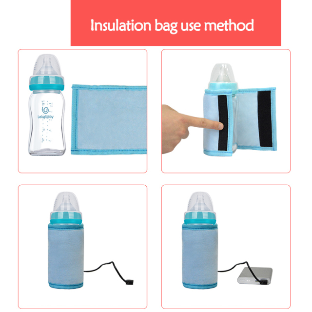 New USB Thermo Bag For Baby Bottles Baby Bottle Baby Bottle Warmer Thermostat Insulation Bags Portable