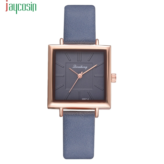 Blue JAYCOSIN Stainless Steel Women Casual Watches New Luxury Wrist Watches Hour