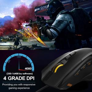 Image 2 - TeckNet HYPERTRAK High Precision Programmable Laser Gaming Mouse 16400 DPI 10 Programmable Buttons Weight Tuning Cartridge Mice