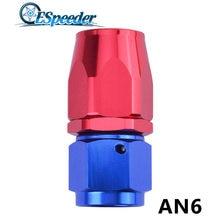ESPEEDER – raccord en Aluminium anodisé réutilisable AN6, extrémité droite, huile, carburant, pivotant à 0 degré, adaptateur