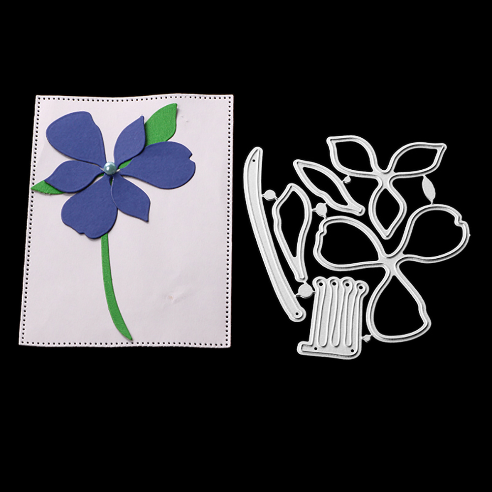 Cutting Dies 9.5cm*8.1cm Flower Christmas Dies Metal Cutting Dies New 2018 Scrapbooking Dies Metal Die Cuts Background For Gift Good For Antipyretic And Throat Soother