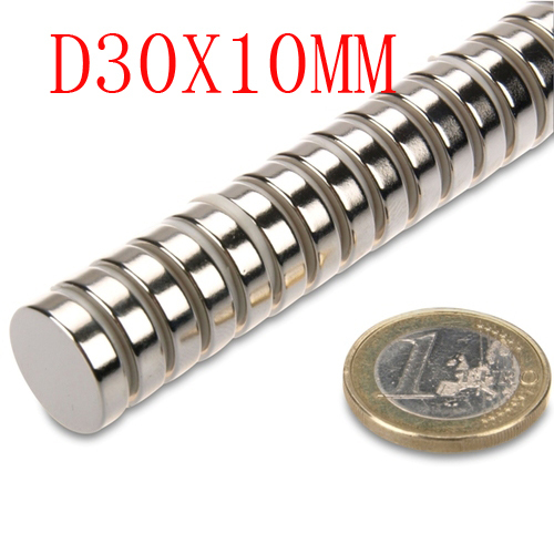 limited 5 pcs 30 mm x 10 mm disc powerful <font><b>magnet</b></font> craft <font><b>neodymium</b></font> rare earth permanent strong N35 N35 30*10 <font><b>30x10</b></font> image