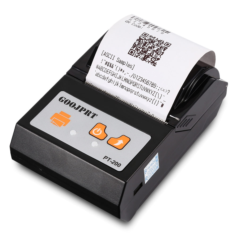 Brazil Shipping 4 PCS PT 200 Bluetooth Thermal Printer 58mm Portable Wireless for Android iOS