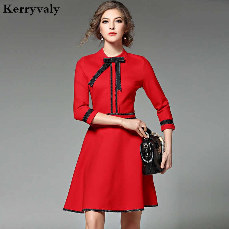 f7b75672963 Новая дамская мода красный рождественское платье 2019 Vestidos Украина  черный для женщин платья для вечеринок зимние