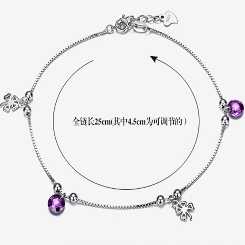 New arrival silver but the silver font b anklets b font female fashion silver font b
