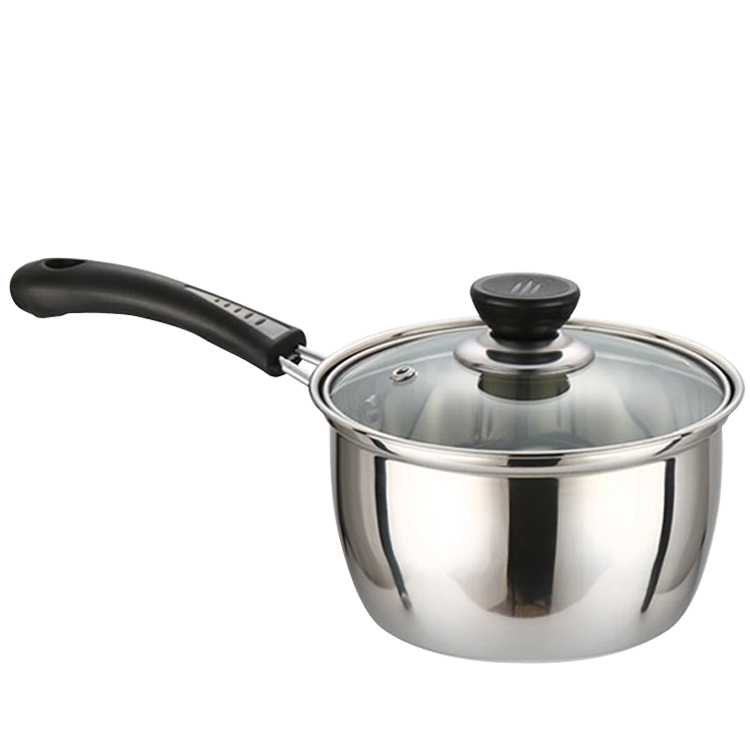 stainless steel milk pan cooking pot noodles pan baby care food supplement small soup pot with a. Black Bedroom Furniture Sets. Home Design Ideas