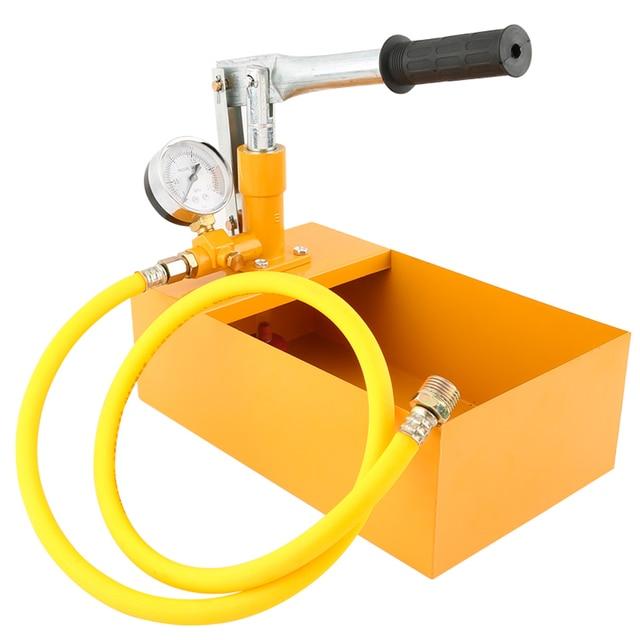 """알루미늄 2.5MPa 25KG 수압 시험기 수동 유압 테스트 펌프 기계 G1/2 """"호스"""
