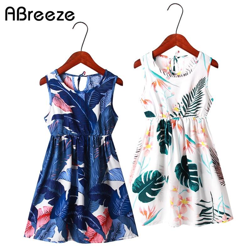 Böhmen Kinder Kleid Mädchen Sommer Floral Party Kleider Kleinkind Kleidung Kinder Mädchen Banana Blatt Kleid Für Baby Neueste Mode Mutter & Kinder Kleider