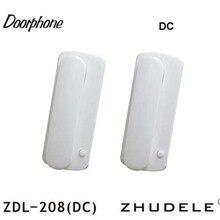 ZHUDELE ZDL-208 DC(переменный/постоянный ток безопасности домофон 2-проводной новое видео-телефон двери, легкая Самостоятельная установка, 200 м расстояние