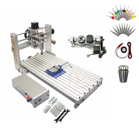 Ball Screw Mini CNC 3 axis 4 axis 5 axis CNC Router DIY 6020 Wood PCB PVC Engraving Milling Machine With ER11 Collet USB Port