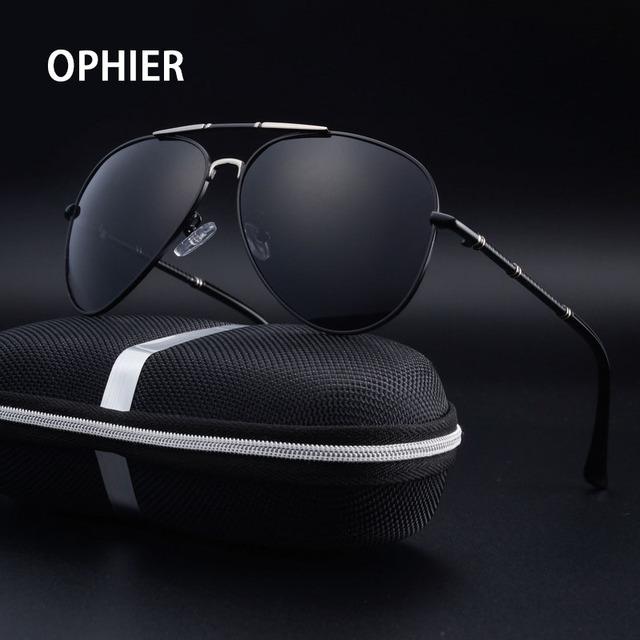 OPHIER Marca de Luxo Óculos De Sol Dos Homens Polarizados óculos de Sol Masculinos Espelho de Condução óculos de Sol para Homens óculos de sol Óculos Acessórios
