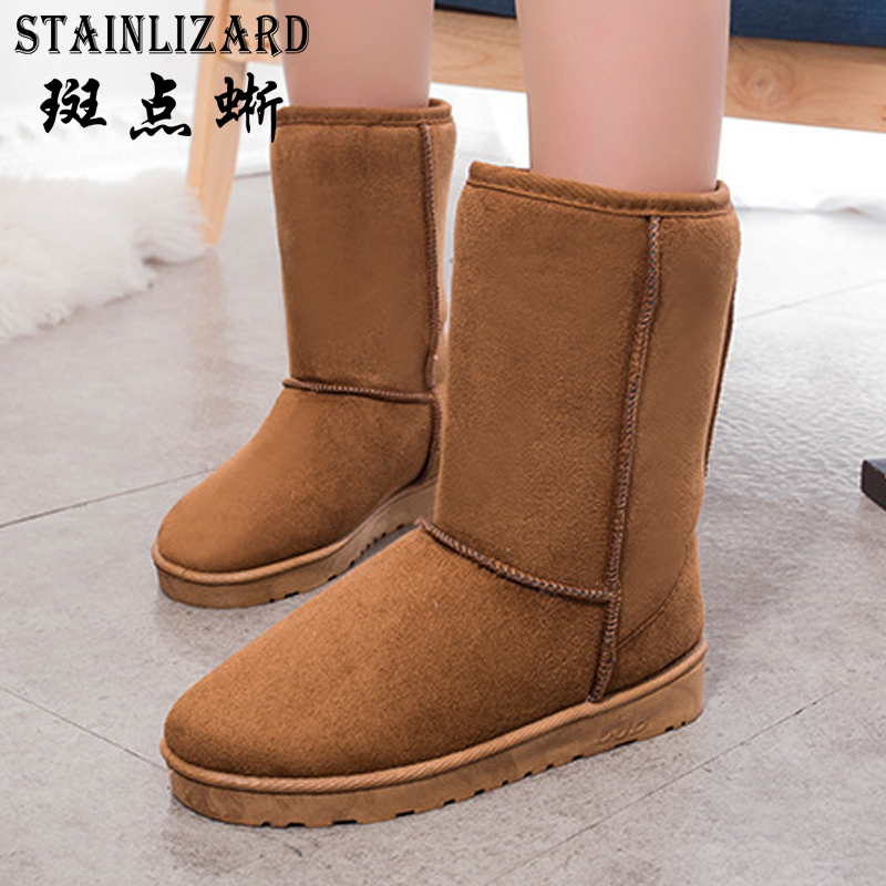 Warm Snow Boots Casual Bowtie Flats Leisure Ankle Boot Solid Comfortable Round Toe Women Shoes Ladies Winter Women Boots DT1016 armoire hot sales black yellow red brown gray flats women slouch ankle boots solid ladies winter nude shoes aa 3 nubuck